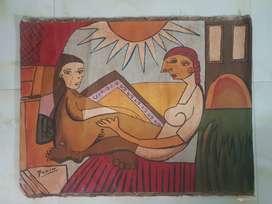 Jual lukisan re-pro Picasso kanvas