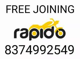 JOINING FREE IN RAPIDO BIKE/DAILY INCOME