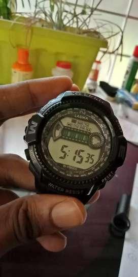 Lasika digital sports watch with light, alarm, date, day, etc