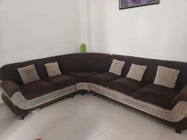 7Seater Sofa along with Center Table and 2 full coverage sofa covers