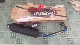 Knalpot proliner standar racing ORIGINAL buat motor mio j/soul gt dll