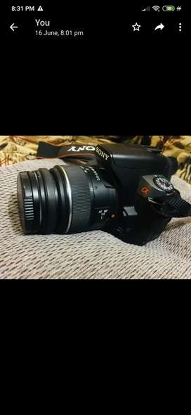 Camera ,original charger ,bag everything (Sony a330) ,only for pics