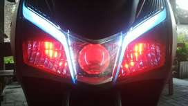 Jasa Pasang Aksesoris Lampu LED RTD Utama Sorot Tyto H6 H4 Motor Mobil