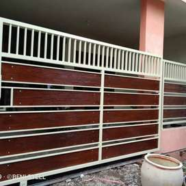 Pintu pagar dorong grc model lurus