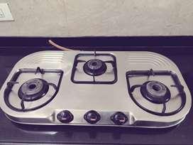 Prestige gas stove with 3 burners