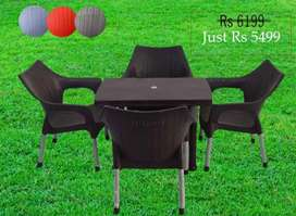 Brito chairs and Table factory rate