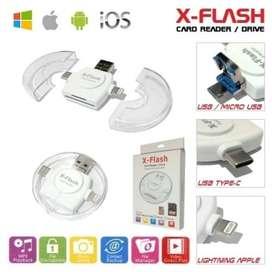 X-Flash Card Reader Drive iPhone Android PC OTG Multi Komputer Aksesor