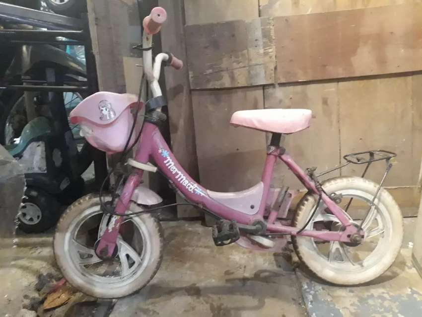 Sepeda anak mermaid siap pakai 0