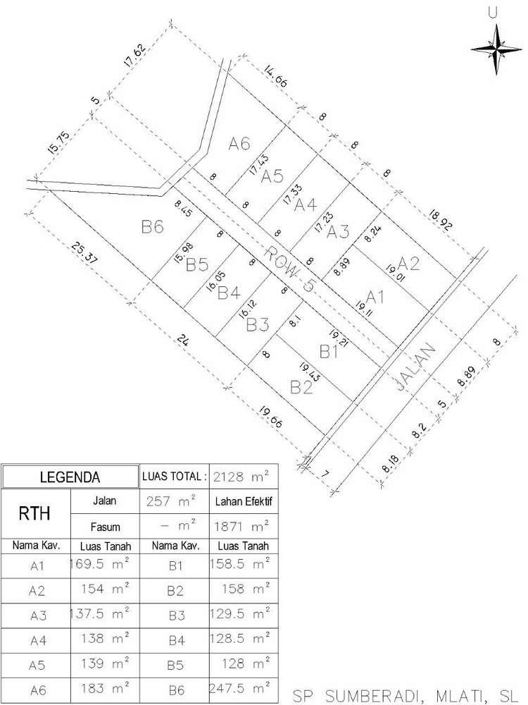 tanah kavling harga terjangkau luas 137m2 lokasi apik nan asri