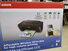 Canon AIO E470 wifi printer