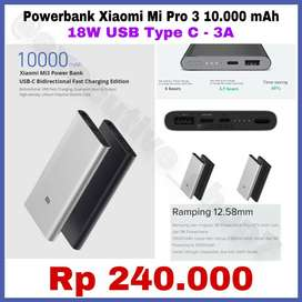 Powerbank Xiaomi Pro 3 Original 10.000mAh 18W Type C Berkualitas READY