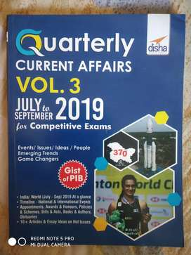 Quarterly current affairs vol 3 - May to September 2019