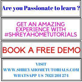 trainee and trained teacher required for shreyahometutorials