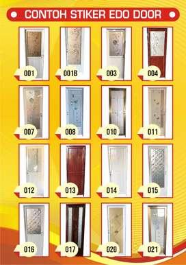 pintu alluminium kamar mandi Edo Door uk.200x70cm free handle ,kusen