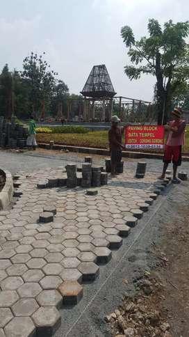 Pabrik Paving block bata expose terakota batu putih paping blok grass