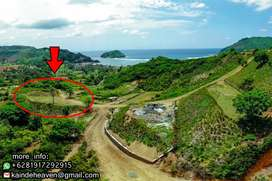 Land For Sale in South Lombok, Jual tanah view laut, lokasi are guling
