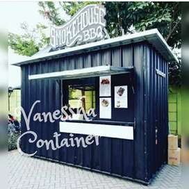 BOOTH SEMI CONTAINER / CONTAINER CAFE / CONTAINER RESTORAN FAST FOOD