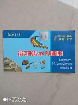 ജോലി ആവശ്യം ഉണ്ട് (electrical & plumbing)