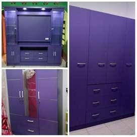 Lemari 3 pintu,lemari 4 pintu & rak tv minimalis BY