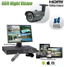 04 full HD Cctv Cameras with complete installation