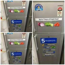 double door fridge 280 Liters 5 year warranty
