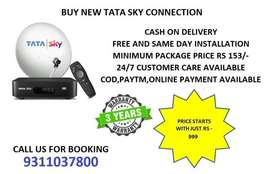 TATA SKY CONNECTION WITH 3 YEARS WARRANTY ONLY RS 999/-