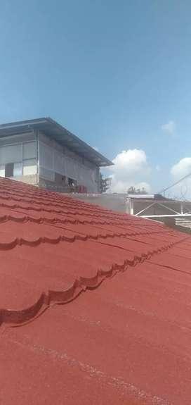Rangka atap baja ringan + pemasangan