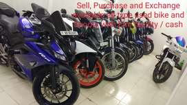 Used bike and Scooty sell purchase and exchange with Emi facility
