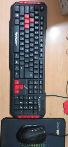 Redgear gaming keyboard and mouse combo for sale