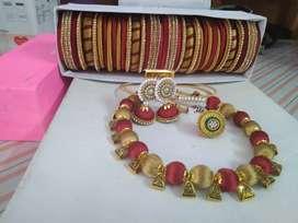 Handmade silk thread jewellery