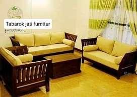 Sofa minimalis mewah, formasi, 3.2.1.bahan kayu jati terbaik