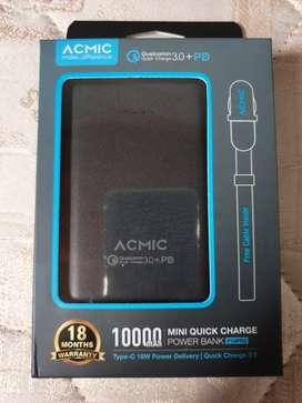 Acmic PowerBank Quickcharger3.0 10000mah