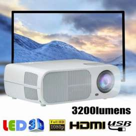 LESHP HD Portble 3200 Lumen Projector Home Cinema Theater