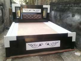 double beds with led lights and back box