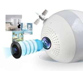 kamera CCTV Bulb WiFi IP Panoramic Camera V380 Lampu Bohlam VR Spy Cam