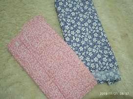 2 pcs jilbab segi empat motif bunga bagus murah