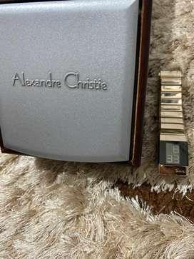 SALE!!! jam tangan cewek digital merk Alexandre Christie warna gold