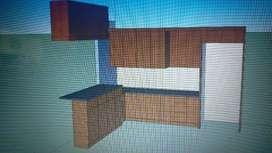 Kitchen set, lemari bawah tangga, lemari pakaian dll custom