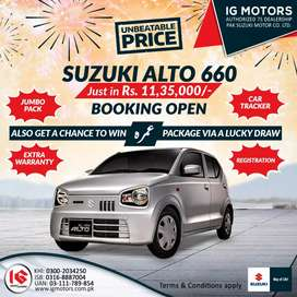 Alto vx with special offer on installment package and booking