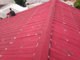 Rangka atap baja ringan spandek pasir.