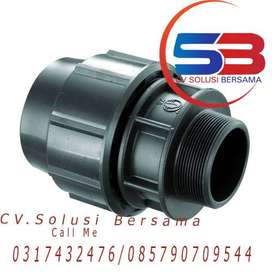 Fitting Compression HDPE Male Thread