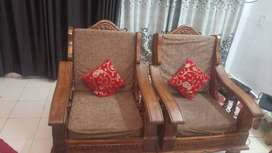 Wooden sofa pure saagon only 1 year old