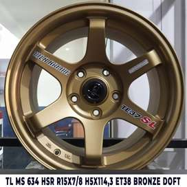 velg mobil hsrwheel ring 15 pcd 5x114,3 semi matt bronze