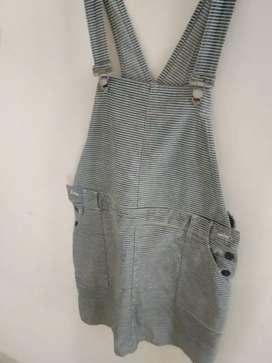 Overall Skirt Denim (Terusan Rok bahan Jeans)
