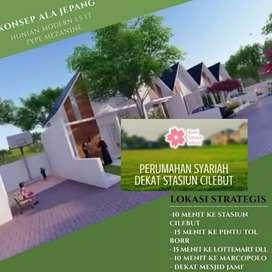 Rumah model Minimalis Dekat Stasiun Cilebut