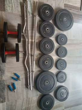 Full home gym equipments for just 8000. Price strictly non-negotiable.
