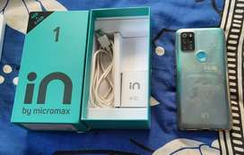 Micromax in 1 Smart phone with full box for sale