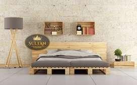 Dipan palet ranjang tempat tidur kayu jati