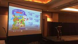 Jasa Rental LCD Proyektor dan Screen murah 24 Jam Area Klaten Selatan