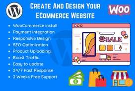 create wordpress ecommerce website or online store using woocommerce